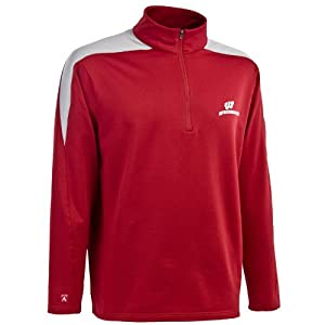 Wisconsin Badgers Adult Succeed Quarter Zip Fleece by Unknown