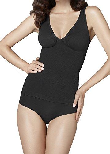 die etwas andere blickdichte Corsage, tragen wie ein Unterhemd, figurformend läßt Problemzonen besser aussehen, Größe 38 (M), Farbe Schwarz (black)