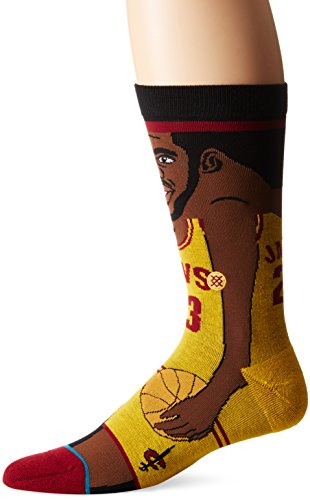 Stance NBA Legends Socks Lebron James - Yellow-Medium