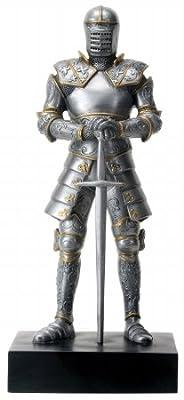 "Italian Medieval Knight Statue 9""h Figurine Royal Suit Of Armor"