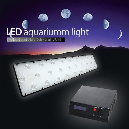 Dsuny® Programmable Intelligent Led Lighting System Plus Moonlights For Aquarium/Reef Sps/Lps/ Soft Corals, 50X2 Watt Dimmable, 168W Output, 48-Inch