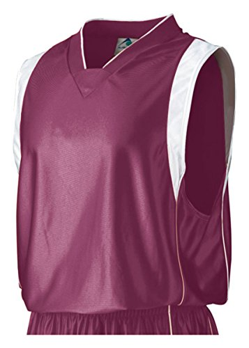 Augusta Sportswear Men'S Knit V-Neck Dazzle Game Jersey, Maroon/White, X-Large