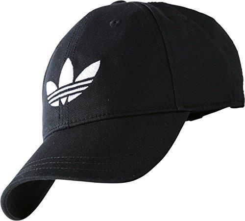 Adidas Trefoil Cap Cappellino Unisex, Nero/Bianco (Aj8941-Nero/Bianco), Osfm