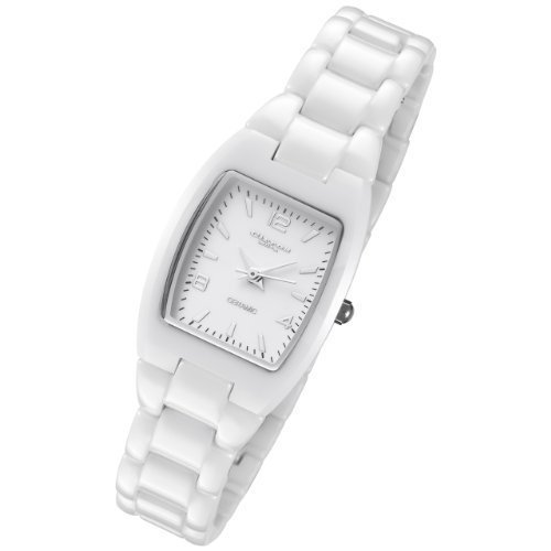Cirros Milan Luxury Ladies White Ceramic Watch Model 2296LW-MD