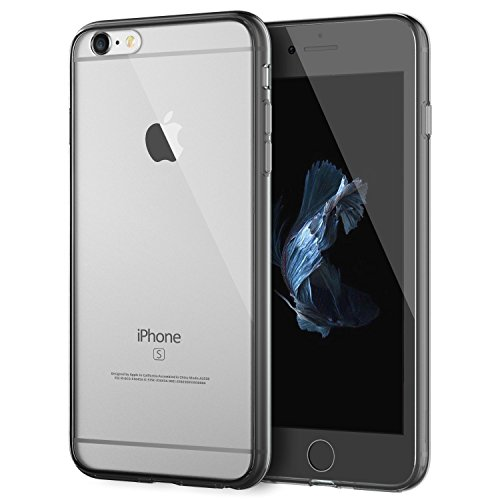 iPhone 6S Plus Case , KAMII iPhone 6 Plus 6S Plus Case (5.5 Inch) Soft Style [Lifetime Warranty] Protective Shock-Absorption Bumper and Anti-Scratch Clear Back Hard Cases Cover (Silver)
