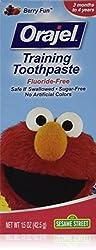 Orajel Toddler Training Toothpaste, Sesame Street Elmo, Berry Fun Flavor 1.5 Oz (Pack of 3)