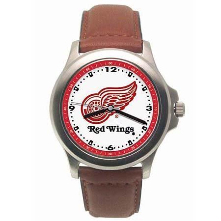 LogoArt Detroit Red Wings Men's Leather Rookie
