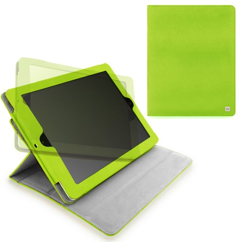 CaseCrown Axis Flip Case (Green) for iPad 4th Generation with Retina Display, iPad 3 & iPad 2 (Built-in magnet for sleep / wake feature)
