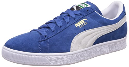 Puma Suede Classic+ - Scarpe da Ginnastica Basse Uomo, Blau (olympian blue-white 64), 8
