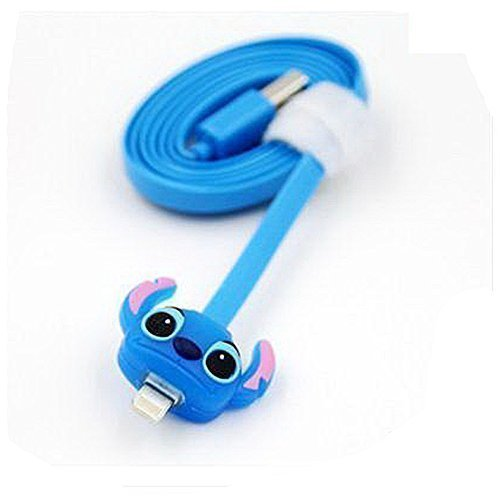 LIKESEA 3D Stitch LED Light Data Sync Charger 8 Pin USB Cable For Apple Iphone 5, 5S, 5C, Se, 6, 6S, 6 Plus, 6s Plus/ Ipad Air2, Pro, Mini 2 3 4, Ipad 4 5 6