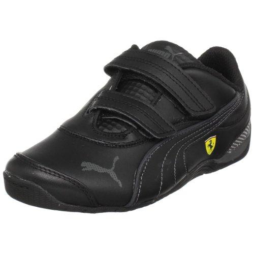 PUMA Kids' Drift Cat III L SF V Sneaker,Black/Black/Dark Shadow,8 M  US Toddler