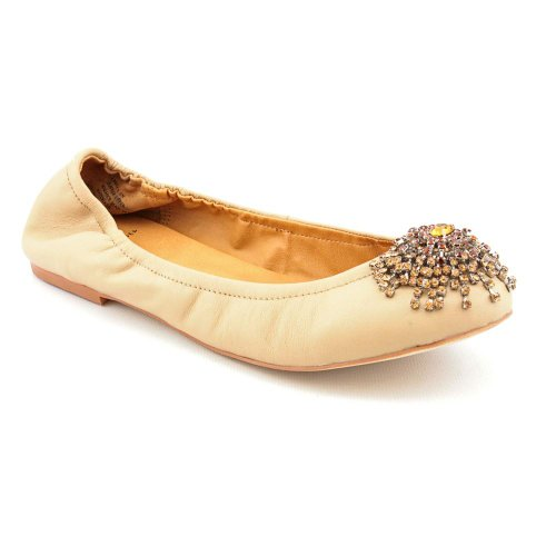 Kelsi Dagger Arena Womens Size 8 Nude Leather Ballet Flats Shoes New Display