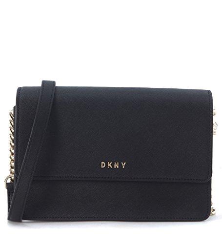 Borsa a tracolla small DKNY in pelle nera