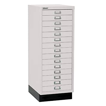 Bisley Light Grey A3 Multidrawer 15 drawer H 940mm 118-av7