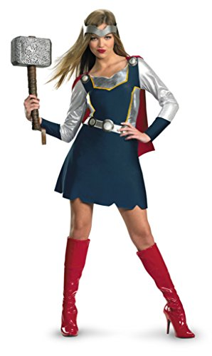 Disguise Womens Classic Thor Girl Fancy Halloween Costume