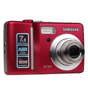 Samsung S730 7.2MP 3x Optical/5x Digital Zoom Camera (Red) (Samsung S730 compare prices)