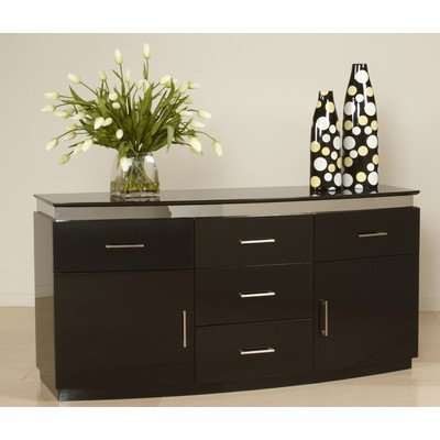 Cheap 4 Drawer Contemporary Buffet By Chintaly (XENIA-BUF)