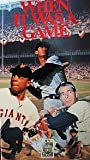 When It Was a Game 1 [VHS]