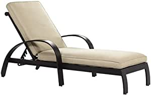 Abbot Outdoor Chaise Lounge 30W X 78L X 36H WOODGRAIN Patio