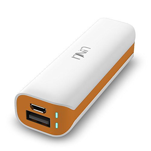 Unu Enerpak Micro 2800Mah Usb External Battery Pack - [White / Orange] Backup Battery Charger Compatible To Iphone 6, Iphone 6 Plus, Iphone 5S / 5 / 4S /4, Samsung Galaxy Note 4 / 3 /2 , Samsung Galaxy S6 / S5 / S4 / S3 / Tab 4 3 2 7.0 8.0 10.1 / S 8.4 10 front-64091