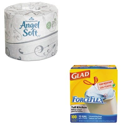 KITCOX70427GEP16840 - Value Kit - Georgia Pacific Premium Bathroom Tissue (GEP16840) and Glad ForceFlex Tall-Kitchen Drawstring Bags (COX70427)
