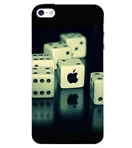 D KAUR Dice & Apple Back Case Cover for Apple I Phone 4S::Apple I Phone 4S