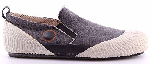 Scarpe Sneakers Uomo MOMA 13502-VJ Softy White Slip On Denim Vintage Italy Nuove