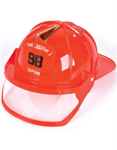 Adult Fire Fighter Captain Costume Hard Hat Toy Helmet