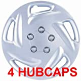 15&#8243; Set of 4 Hubcaps Dodge Caravan Wheel Covers Design Are Universal Hub Caps Fit Most 15 Inch Wheels 1996