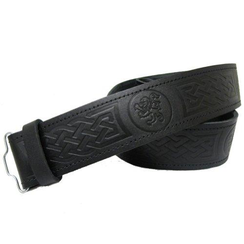 Tartanista lion embossed 100 leather highland scottish kilt belt no