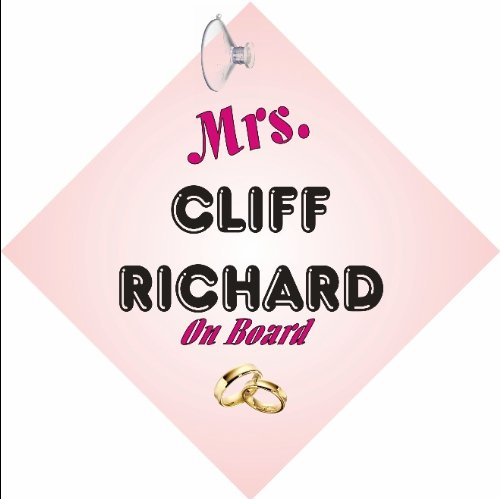 MRS-Cliff-Richard-CAR-SIGN-with-Sucker