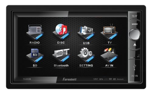 Farenheit Ti-650B 2-Din Multimedia Source Unit With Motorized 6.5-Inch Lcd Touch Screen And Bluetooth V2.0