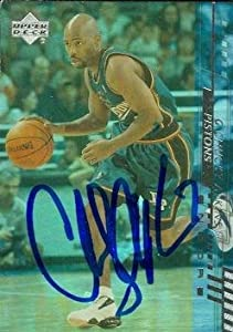 Chucky Atkins autographed Basketball Card (Detroit Pistons) 2001 Upper Deck #36 by Autograph Warehouse