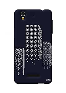 Gobzu Printed Hard Case Back Cover for Micromax YU Yureka Plus - Building Lights