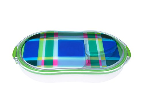 French Bull - Divided Lunch Container - Pack and Snack - Bento Lunch Box - Multiplaid