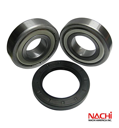 """Nachi High Quality Front Load Whirlpool Washer Tub Bearing And Seal Kit Fits Tub W10290562 (5 Year Replacement Warranty And Full Hd """"How To"""" Video Included)"""