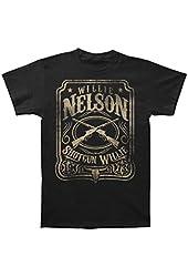 Willie Nelson Men's Shotgun Willie T-shirt Black