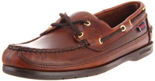 Sebago Schooner - Scarpe da Barca Uomo, Marrone (Brown Oiled Waxy Lea), 43 EU
