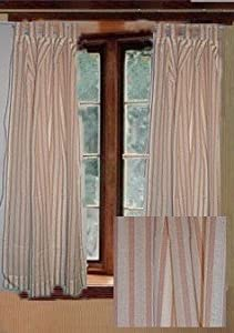 jcpenney tab top cotton stripe curtain set