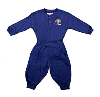 Indiana Pacers NBA Infants 2 Piece Fleece Creeper Sleeper Set with Matching Pants,... by Mighty Mac