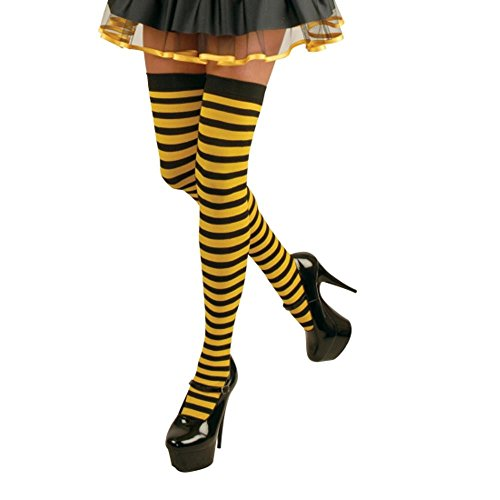 Yellow and Black Striped Tights Halloween Costume