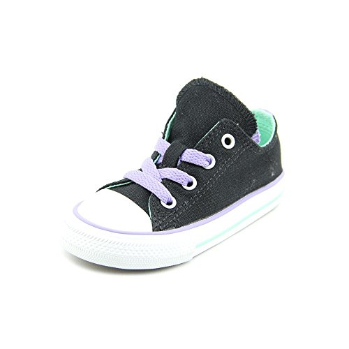 Converse CT Double Tongue Toddler Girls Size 8 Black Textile