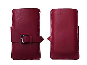 ATV Genuine Leather MAROON Designer Pouch Case Cover For Apple iPhone 6s