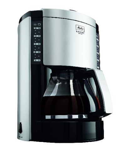 Melitta Look Deluxe Filter Coffee Machine Black/Silver