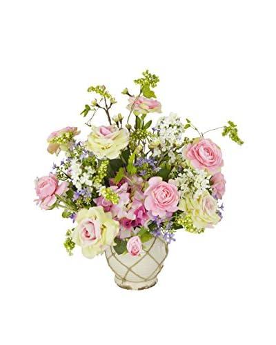Creative Displays Rose, Ranunculus & Lilac Bouquet in a Ceramic Container