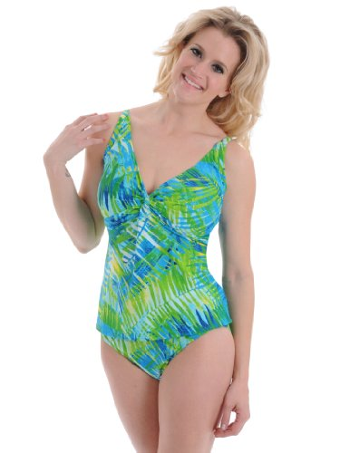 Womens Tankini Swimsuit High Waisted Bathing Suit Tropical Print D And Dd Cups Bra/Pantie: 36D Medium Bottom