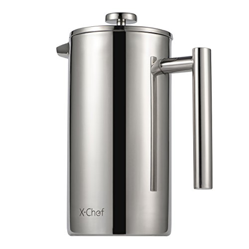 French Press, X-Chef Double Wall Stainless Steel Coffee Press Espresso Maker, (34oz,1L) Shatterproof Good Christmas Gift (French Press Thermal compare prices)