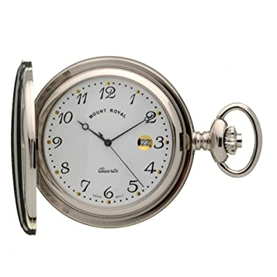 Mount Royal Pocket Watch B24Q Chrome Plated Full Hunter