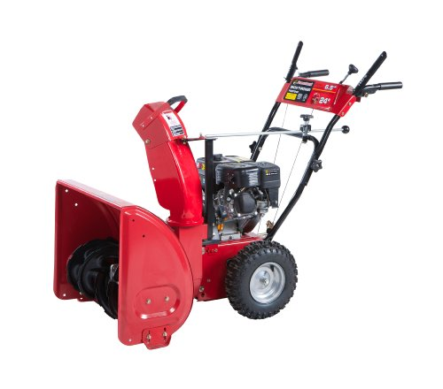 Powerland Pdst24E 2 Stage Gas Snow Blower, 24-Inch