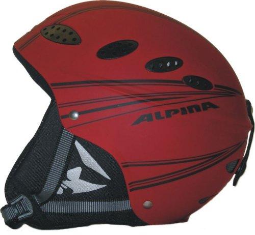 Alpina Lips Flex rot/schwarz Skihelm - 51-54